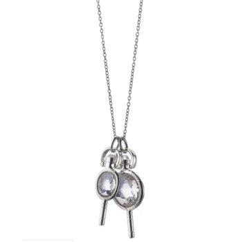 Rock Crystal Miniature Keys Necklace