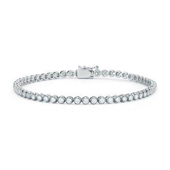 Diamond Tennis Bracelet Bezel Set