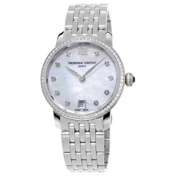 Mother of Pearl Slimline Watch