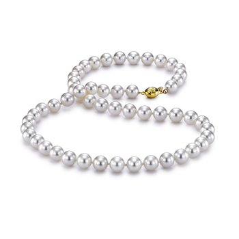 "6.5-7MM 18"" Akoya Cultured Pearl Strand Necklace"