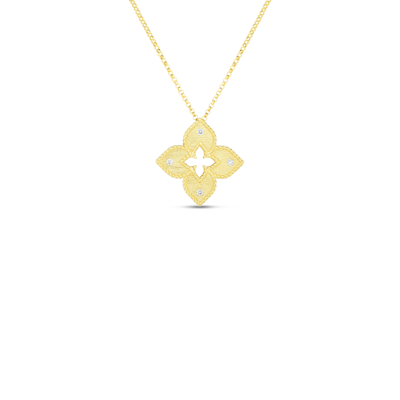 Roberto Coin Petite Venetian Princess Satin Flower Pendant