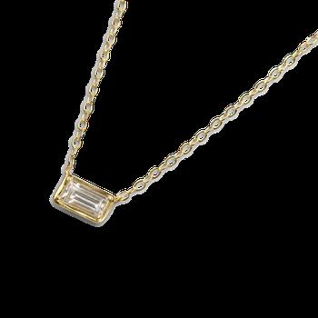Leone White Sapphire Necklace