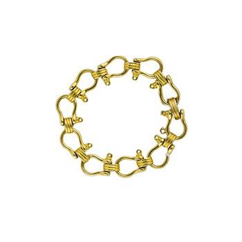Gold Horsebit Bracelet