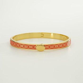 Parterre Chain Orange & Gold Bangle