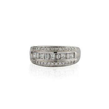 3 Channel Diamond Ring
