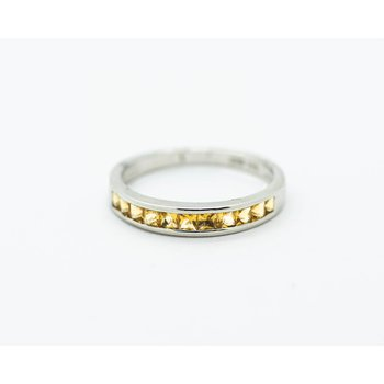 Inlay Citrine Stacking Band