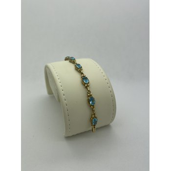 Blue Topaz and Gold Bracelet