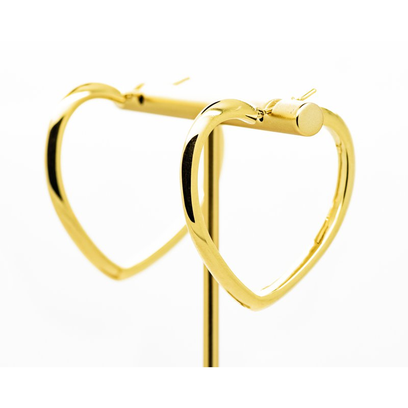 Jewelry Couture Exclusives 14k Yellow Gold Heart Hoops