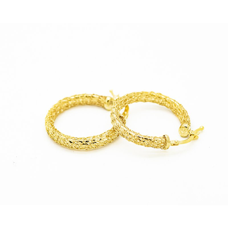 Jewelry Couture Exclusives 14k Yellow Gold Woven Hoops