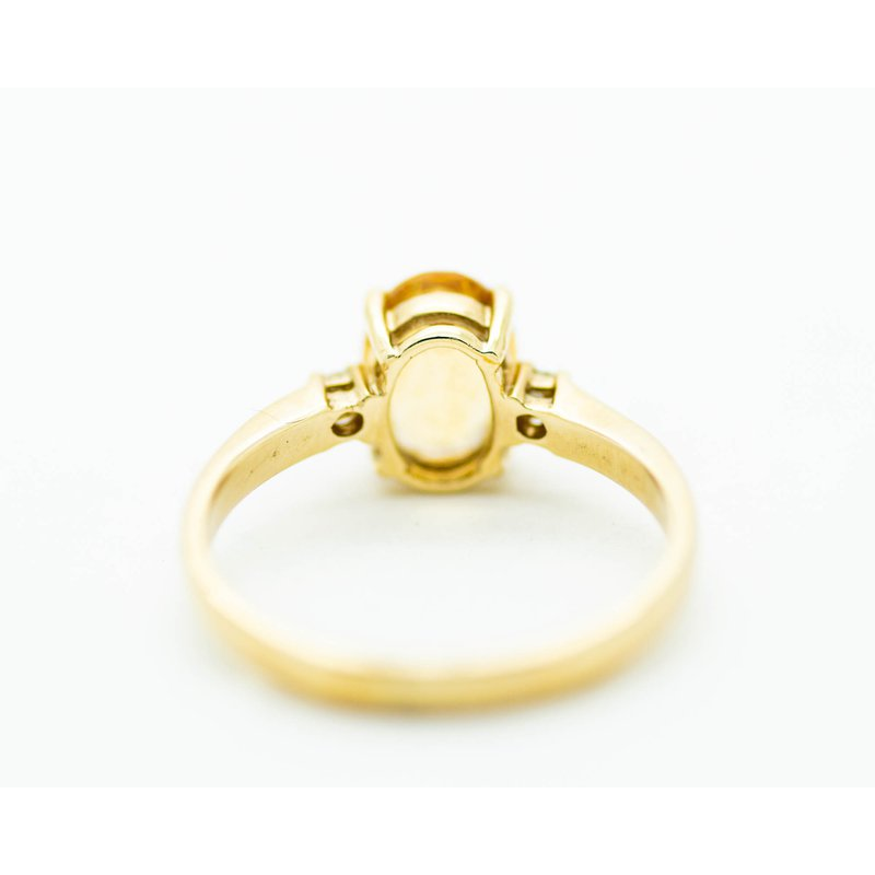 Jewelry Couture Exclusives Classic Citrine and Diamond Ring in 14k Yellow Gold