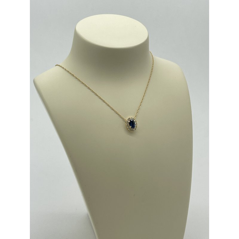 Jewelry Couture Exclusives Sapphire and Diamond Pendant