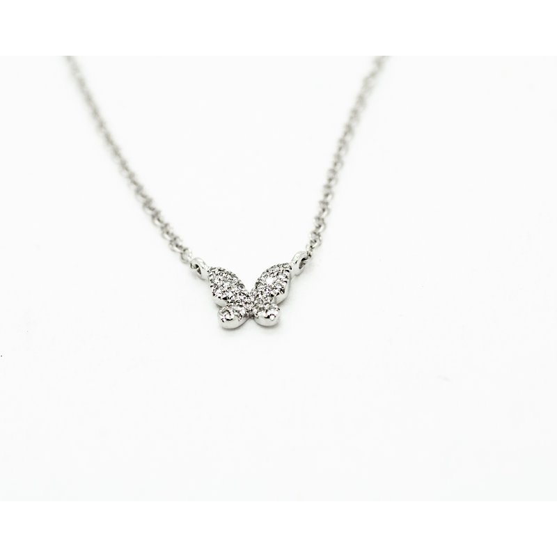 Jewelry Couture Exclusives White Gold Diamond Butterfly Necklace