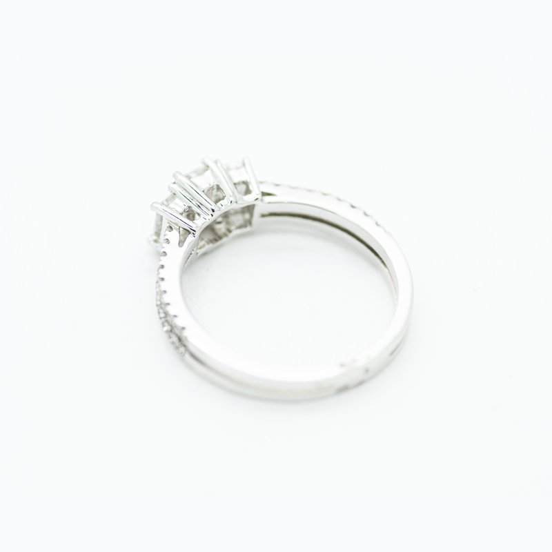 Jewelry Couture Exclusives Three Stone Emerald Engagement Ring