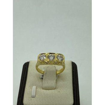 Vintage Style Tri-Center Ring