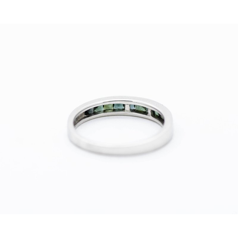 Jewelry Couture Exclusives Green Tourmaline Inlay Stacking Band