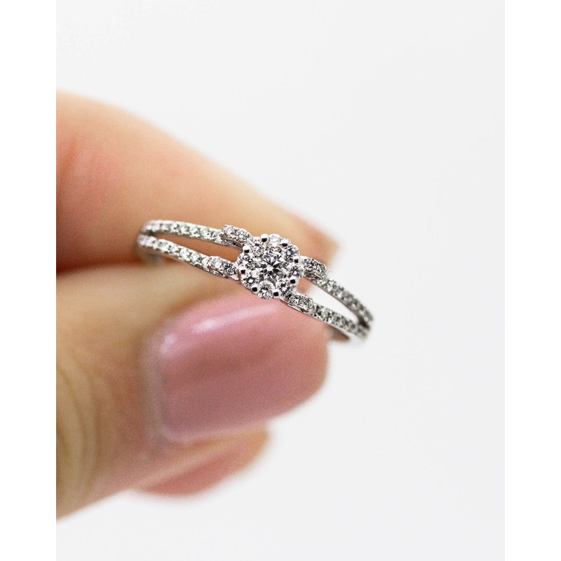 Jewelry Couture Exclusives Curl White Gold Diamond Engagement Ring (Setting Only)