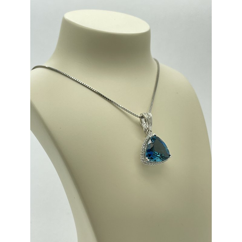 Jewelry Couture Exclusives London Blue Topaz Necklace