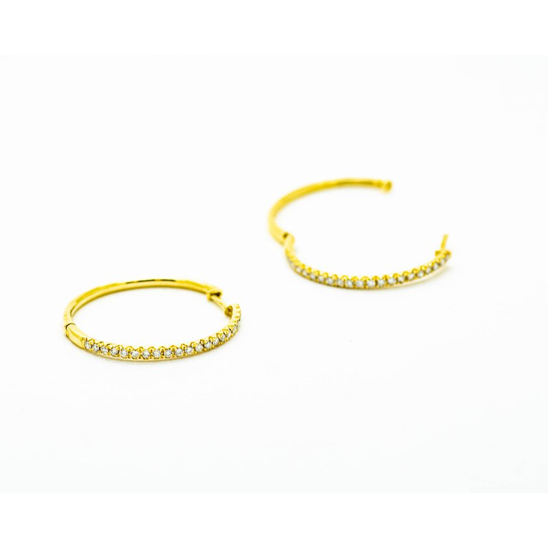 Jewelry Couture Exclusives Dainty Yellow Gold Diamond Hoops