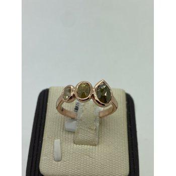 Raw Diamond on Rose Gold Ring