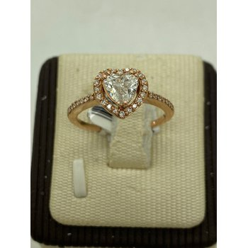 Rose Gold Heart Engagement Ring