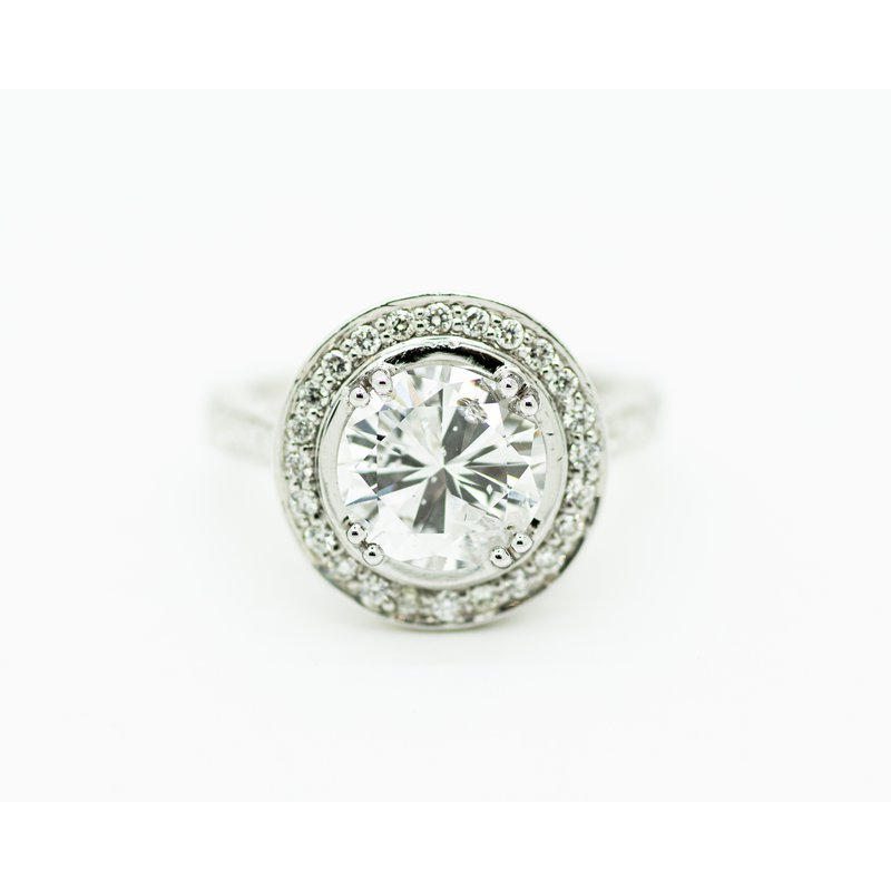 Jewelry Couture Exclusives 2ct Round Halo Engagement Ring