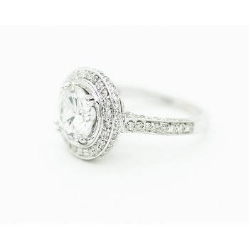 2ct Round Halo Engagement Ring