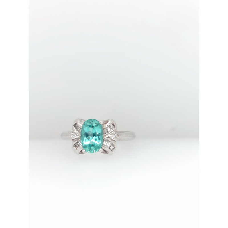 Jewelry Couture Exclusives Tourmaline with Diamond Baguette Ring