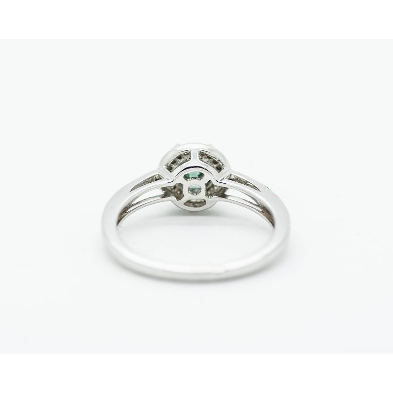 Jewelry Couture Exclusives Teal Diamond Engagement Ring