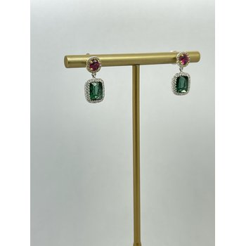 Double Tourmaline Earrings