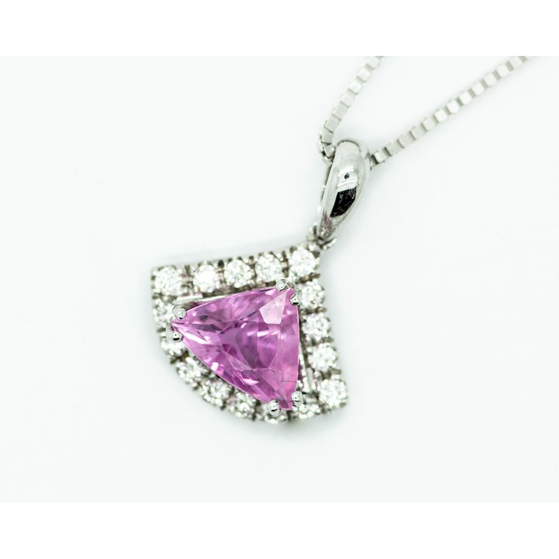 Jewelry Couture Exclusives Pink Tourmaline Trillion Cut Pendant