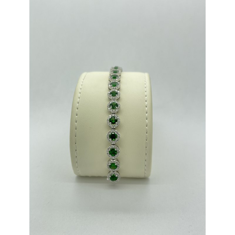 Jewelry Couture Exclusives Diamond and Tsavorite White Gold Bracelet