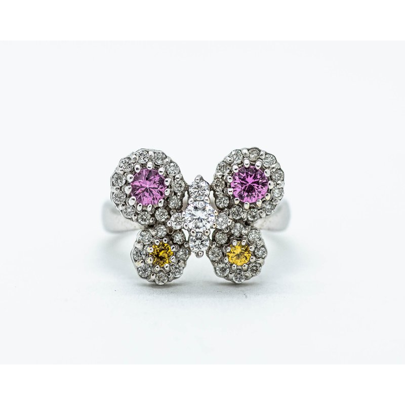 Jewelry Couture Exclusives Sapphire and Diamond Butterfly Ring