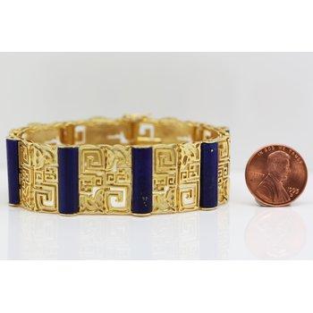 Yellow Gold and Lapis Bracelet