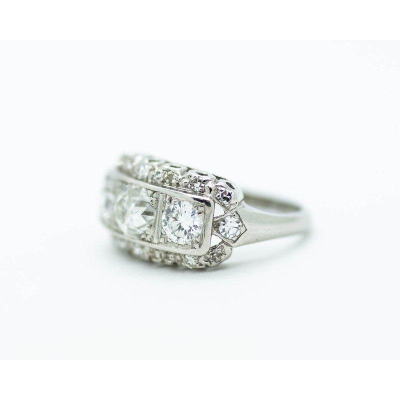 Estate Jewelry Estate Platinum Ring