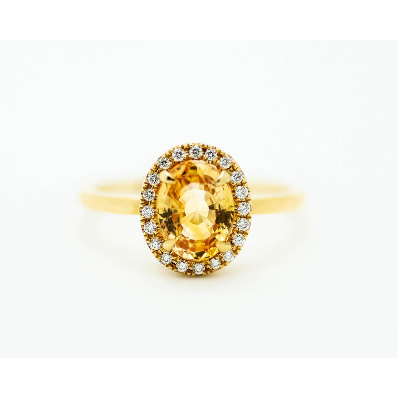 Jewelry Couture Exclusives Royal Topaz Diamond Halo 14k Gold Ring