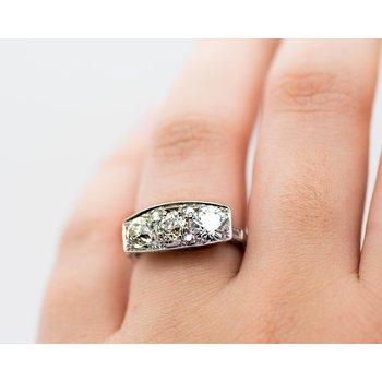 Estate Platinum and Diamond Ring