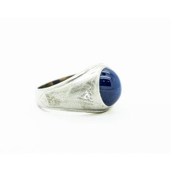 Signet Star Sapphire Men's Ring