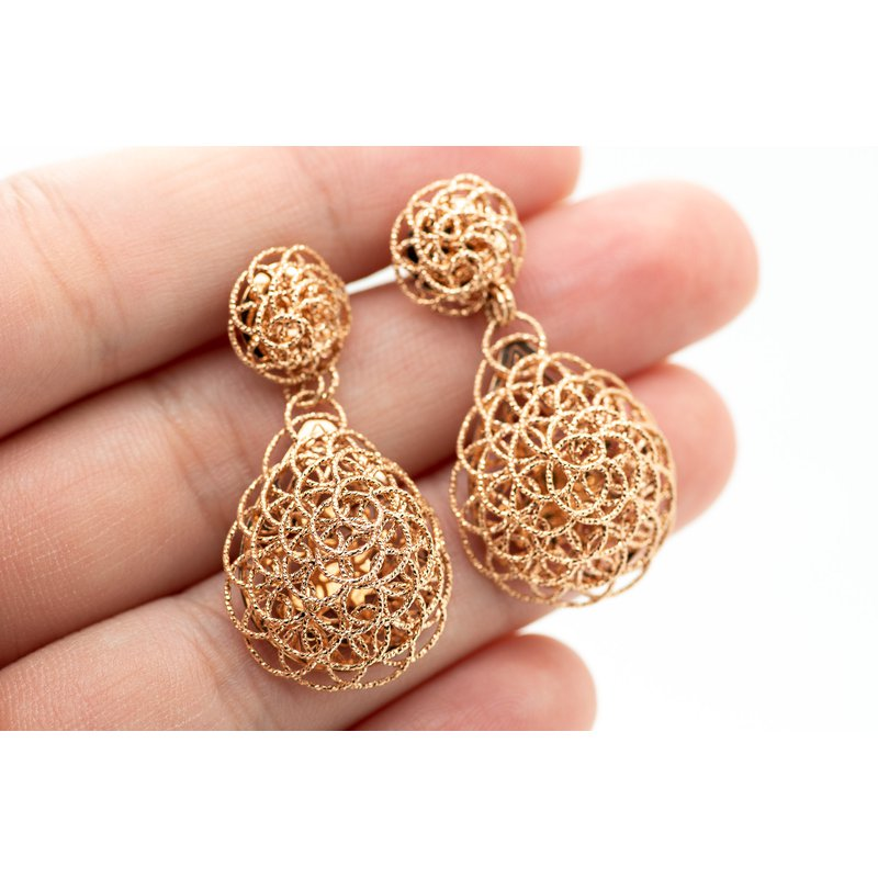 Jewelry Couture Exclusives Swirl 14k Rose Gold Drop Earrings
