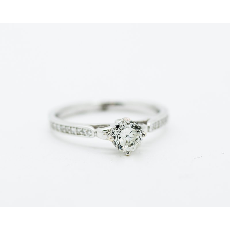 Jewelry Couture Exclusives Diamond Band 18k 0.61ct Engagement Ring