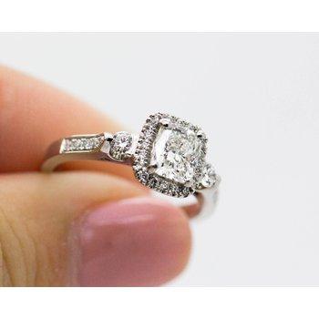 Platinum GIA Cert. Diamond Engagement Ring