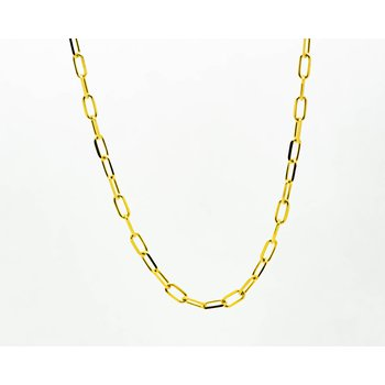 "16"" 14k Yellow Gold Belcher Chain"
