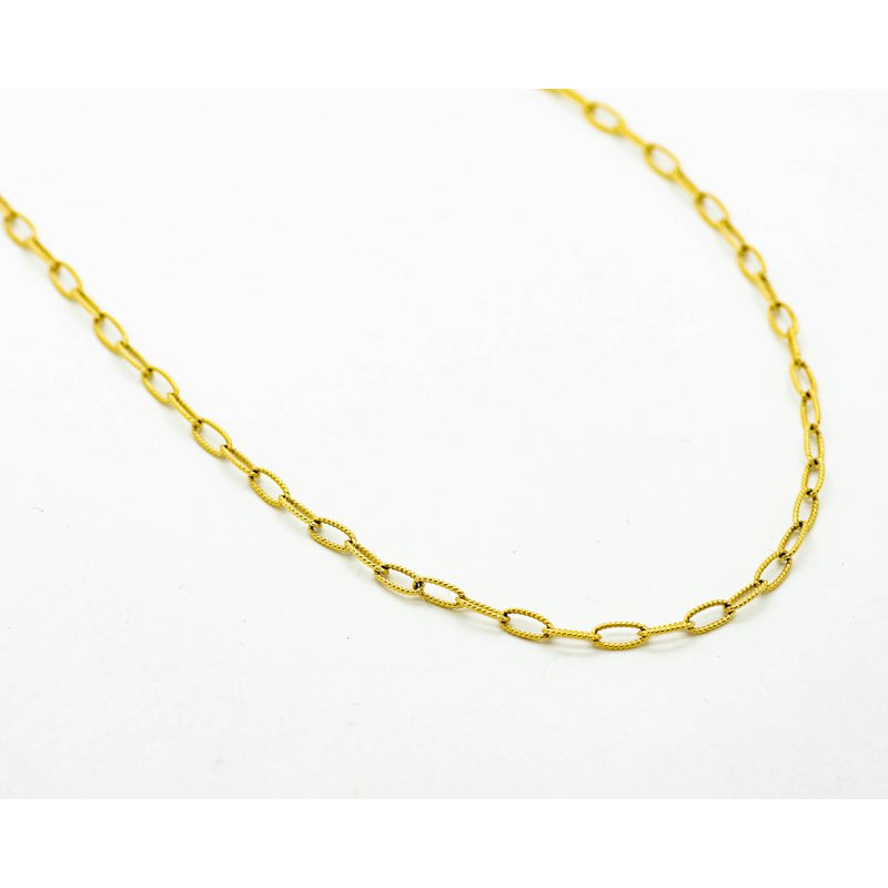"""Jewelry Couture Exclusives 16"""" 14k Yellow Gold Belcher Chain"""