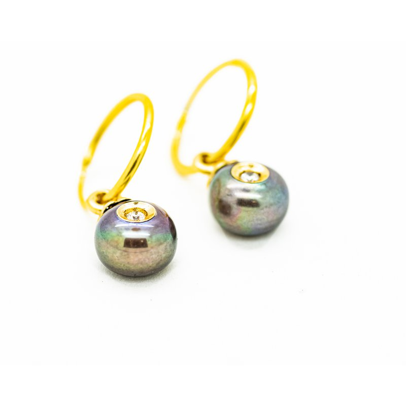 Jewelry Couture Exclusives Freshwater Pearl and Diamond Drop Earrings