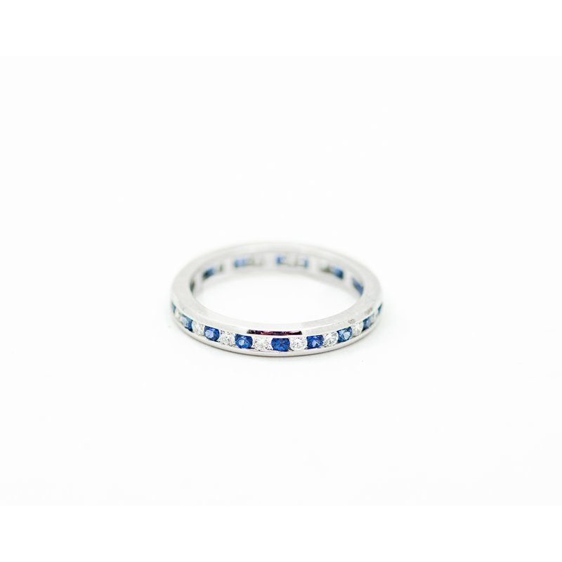 Jewelry Couture Exclusives Diamond and Sapphire Eternity Band