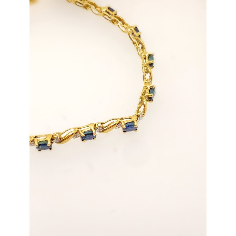 Jewelry Couture Exclusives Sapphire Link Bracelet