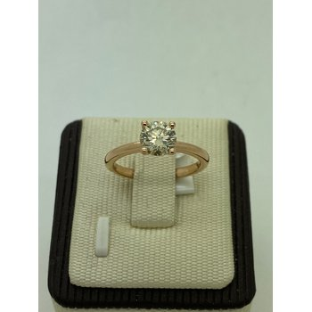 Rose Gold 1.02CT Solitaire Engagement Ring