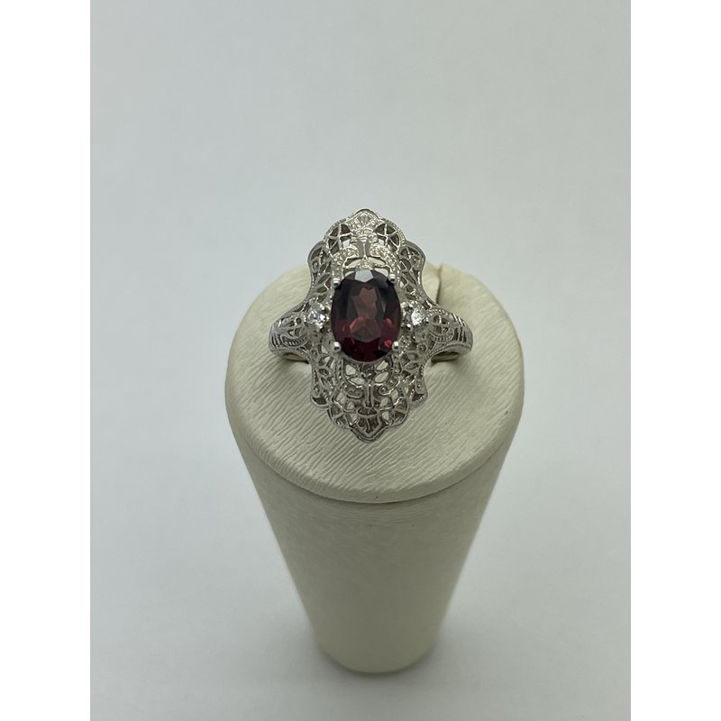 Jewelry Couture Exclusives Central Garnet with Diamond Accent Ring