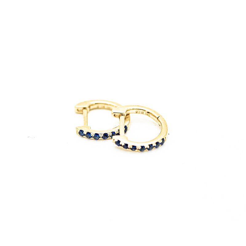 Jewelry Couture Exclusives Mini Sapphire Pave Huggie Hoops