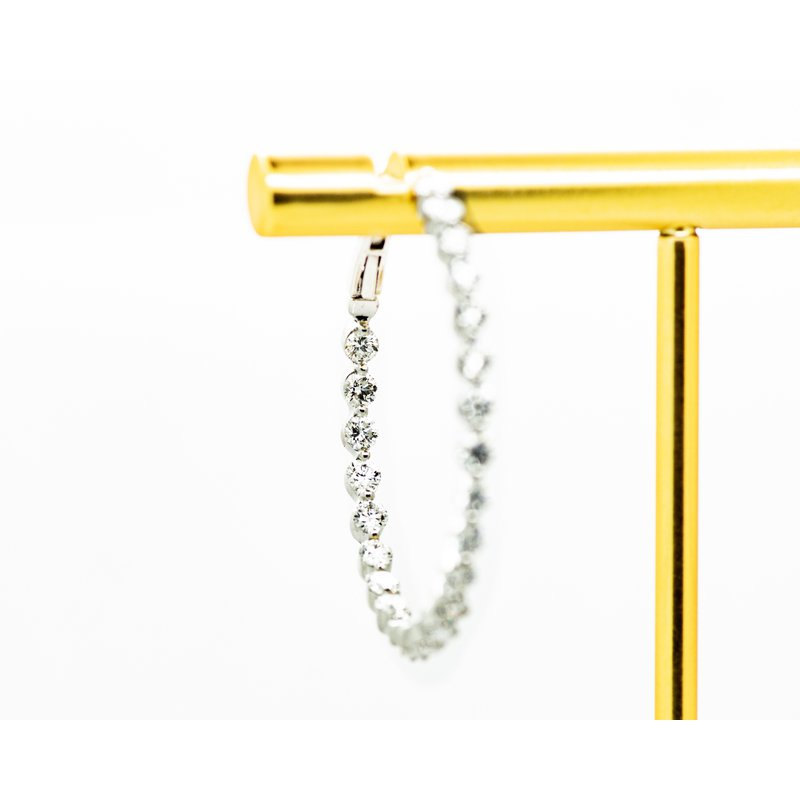 Jewelry Couture Exclusives 18k White Gold Diamond Hoops