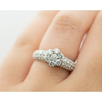 Pave Floral Diamond Ring